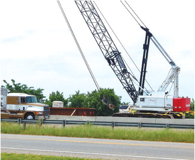 Bridge work on I-40