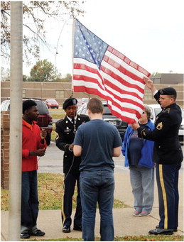 MHS students honor veterans