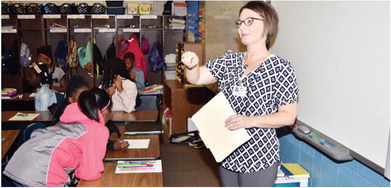 Local professionals visit Faulk Elementary for Career Day