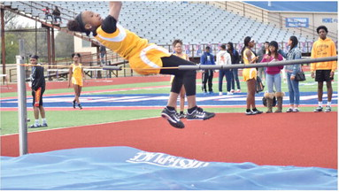 Local athletes show off fleet feet at track meet