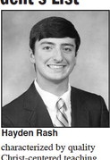 Hayden Rash named to Union  University President's List