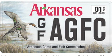 New personalized plate available for Arkansas outdoors enthusiasts