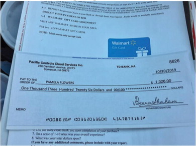 Scam Alert: Residents receiving bogus checks in the mail