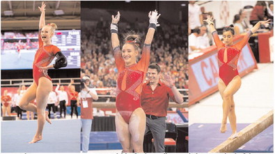 Hogs gymnast trio garners All-SEC honors