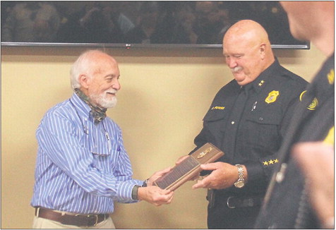 A fond farewell for retiring officers