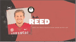 Reed tabbed for Lou Groza Award Watch List